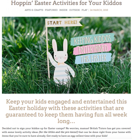 View Sassy Mama - Educational Easter Activities from British Tutors