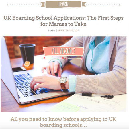 View SassyMama -The first steps for UK boarding school applications